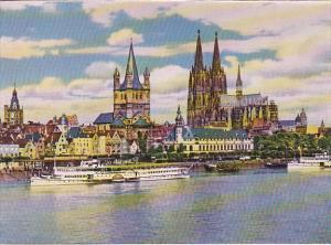 Germany Koeln Rheinufer Rhine Bank