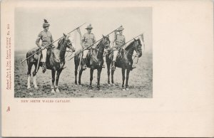 New South Wales Cavalry Military 1900s Tuck Boer War Series Unused Postcard E73