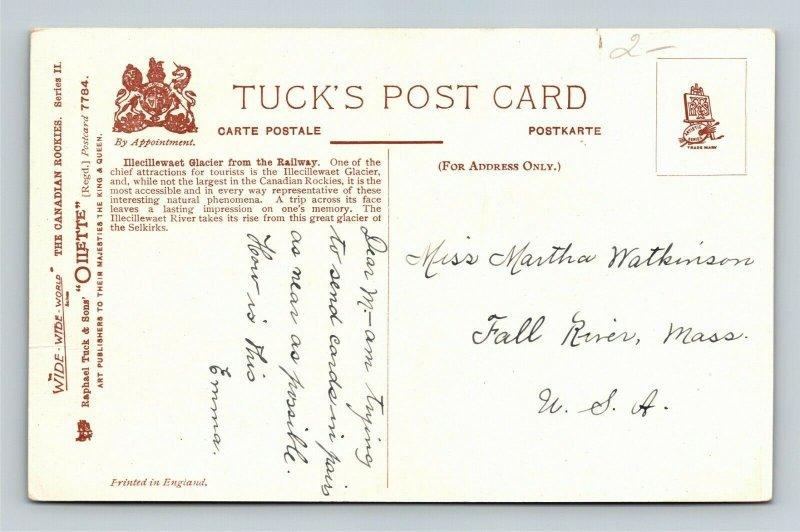 Canadian Rockies-Canada, Illecillewaet Glacier From Railway, Vintage Postcard