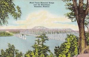 Hannibal Mark Twian Memorial Bridge Over The Mississippi Massachusetts