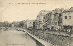 CPA Militaire (Dep.55) Verdun - La Meuse et le quai de la République (91006)