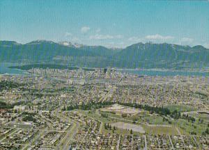 Canada British Columbia Vancouver Panoramic Aerial View