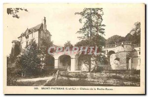 Old Postcard Saint Paterne I and The Chateau de la Roche Racan
