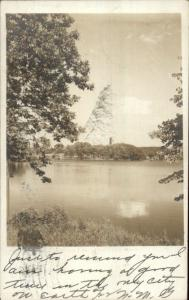 Haverhill MA Kenoza Lake c1905 Real Photo Postcard