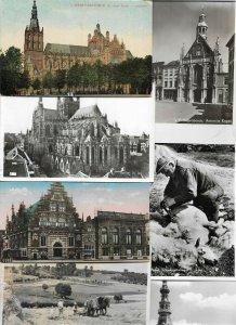 Netherlands Zierikzee Texel Limburg Velp Postcard Lot of 75 With RPPC 01.06