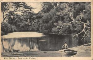 Tanganyika Railway River Scenery Postcard