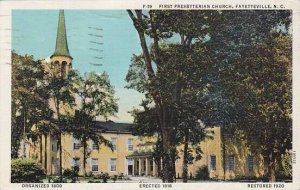 North Carolina Fayetteville First Presbyterian Church 1939 Albertype