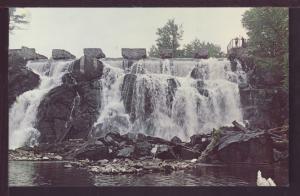 Waterfall Prairie River Merrill WI Post Card 3541