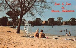 Dover DE Silver Lake~Bikini Ladies~1950s Integrated Swimming~Lifeguard Stand PC