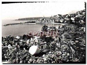 Modern Postcard Menton Alpes Maritimes General view at Cap Martin background