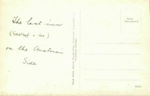 austria, BRENNER, Gasthof Herschbaumer, Car (1930s) RPPC Postcard