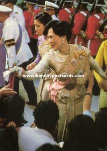 siam thailand, Queen Sirikit Kitiyakara and Princess Chulabhorn Walailak (1970s)