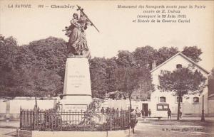France Chambery Monument des Savoyards et Entree de la Caserne Curial