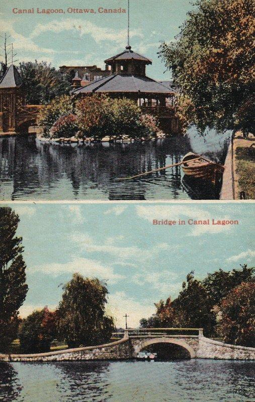 OTTAWA, Ontario, Ontario, 1900-1910's; Canal Lagoon, Bridge In Canal Lagoon