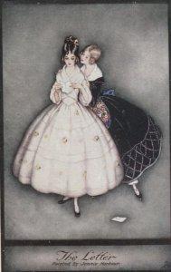 Art Deco ; Jennie HARBOUR ; The Letter , 1910s ; TUCK 3801
