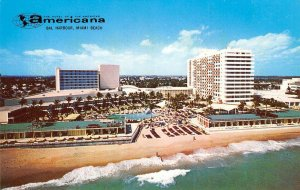 AMERICANA Bal Harbour, Florida Resort Hotel ca 1960s Vintage Postcard