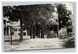 Vintage 1910 Photo Postcard High Street Milford New Hampshire