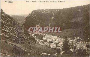 Postcard Old Jura Morez Morez Upper and Roche of Becher
