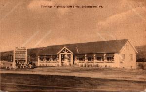 Vermont Brattleboro Coolidge Highway Gift Shop 1945