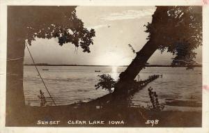 RP: Sunset , CLEAR LAKE , Iowa , PU-1949