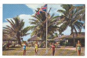 The Beautiful Paradise Beach, Nassau in the Bahamas, 40-60s