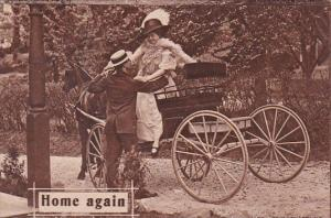 Romantic Couple Horse and Carriage Home Again 1910