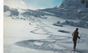 Helicopter Skiing in the Cariboos , B.C., Icefall on Gilmour Glacier , Canada...