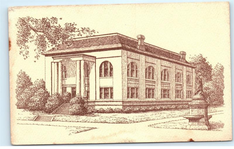 *Jefferson Library Museum Carnegie Library Vintage Postcard C41