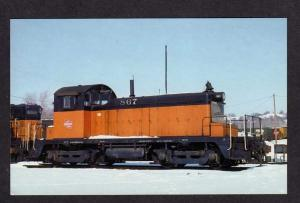 EMD Switcher SW1's Milwaukee Road Rd Railroad Train No 867 Postcard RR Railway