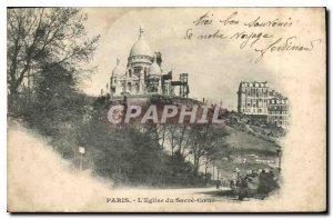 Postcard Old Paris Sacre Coeur Church