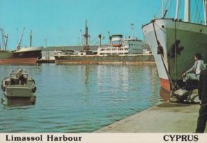 Limassol Harbour Cyprus Postcard