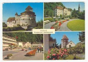 Vaduz, Furstentum Liechtenstein, PU-1973  4-view postcard