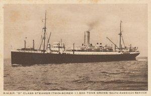 R.M.S.P. D Class Steamer , 1920-30s ; Ocean Liner
