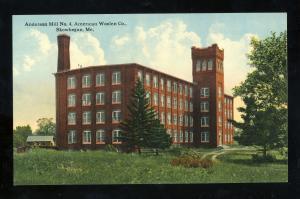 Skowhegan, Maine/ME Postcard, Anderson Mill No. 4, American Woolen Company