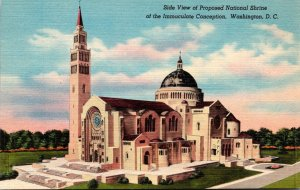 Washuington D C Side View Of Proposed National Shrine Of The Immaculate Conce...