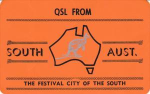 QSL Radio Postcard , South Australia , 40-60s
