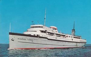 SS Milwaukee Clipper, Great Lakes Luxury Cruise Liner, Lake Michigan, From Mu...