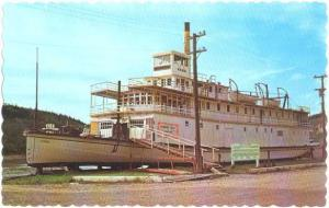 S.S. Keno Stern-Wheeler River Boat at Dawson City, Yukon Canada, Chrome