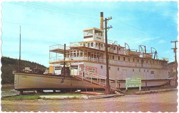 S.S. Keno Stern-Wheeler River Boat at Dawson City, Yukon Canada, Chrome