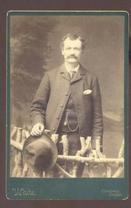 REAL PHOTO CABINET CARD OURAY COLORADO CHRIS BOWMAN WHITE STUDIO 1895