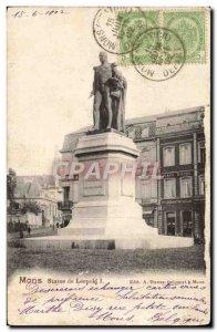 Old Postcard Mons Statue Leopold I