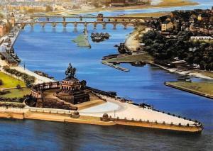Koblenz am Rhein Deutsches Eck vor dem 2. Weltkrieg Denkmal Bruecke