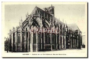 Nevers Old Postcard Apse of the Cathedral Church of Saint Cyr