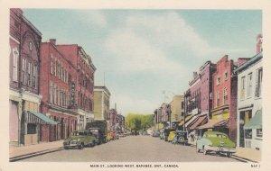 NAPANEE , Ontario , Canada , 1930s ; Main St , West