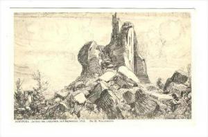 La tour des Templiers, le Septembre,1916, Nieuwpoort (West Flanders), Belgium...