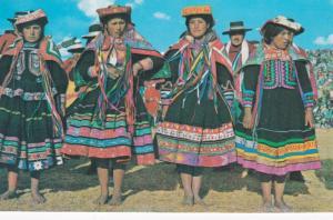 CUZCO , Peru , Indian Girls , 1975