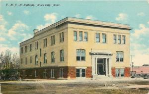 Miles City Montana~YMCA Building~Dirt Road~1910 Postcard