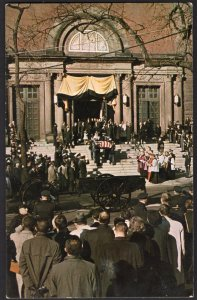 41520) DC President Kennedy St Matthew's Cathedral military guard Nov. 25, 1963