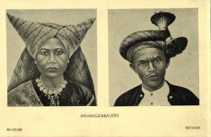 indonesia, SUMATRA, Native Minangkabau Types (1930s) Batavia Museum Postcard