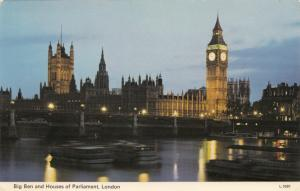 United Kingdom, London, Big Ben and Houses of Parliament, 1975 used Postcard